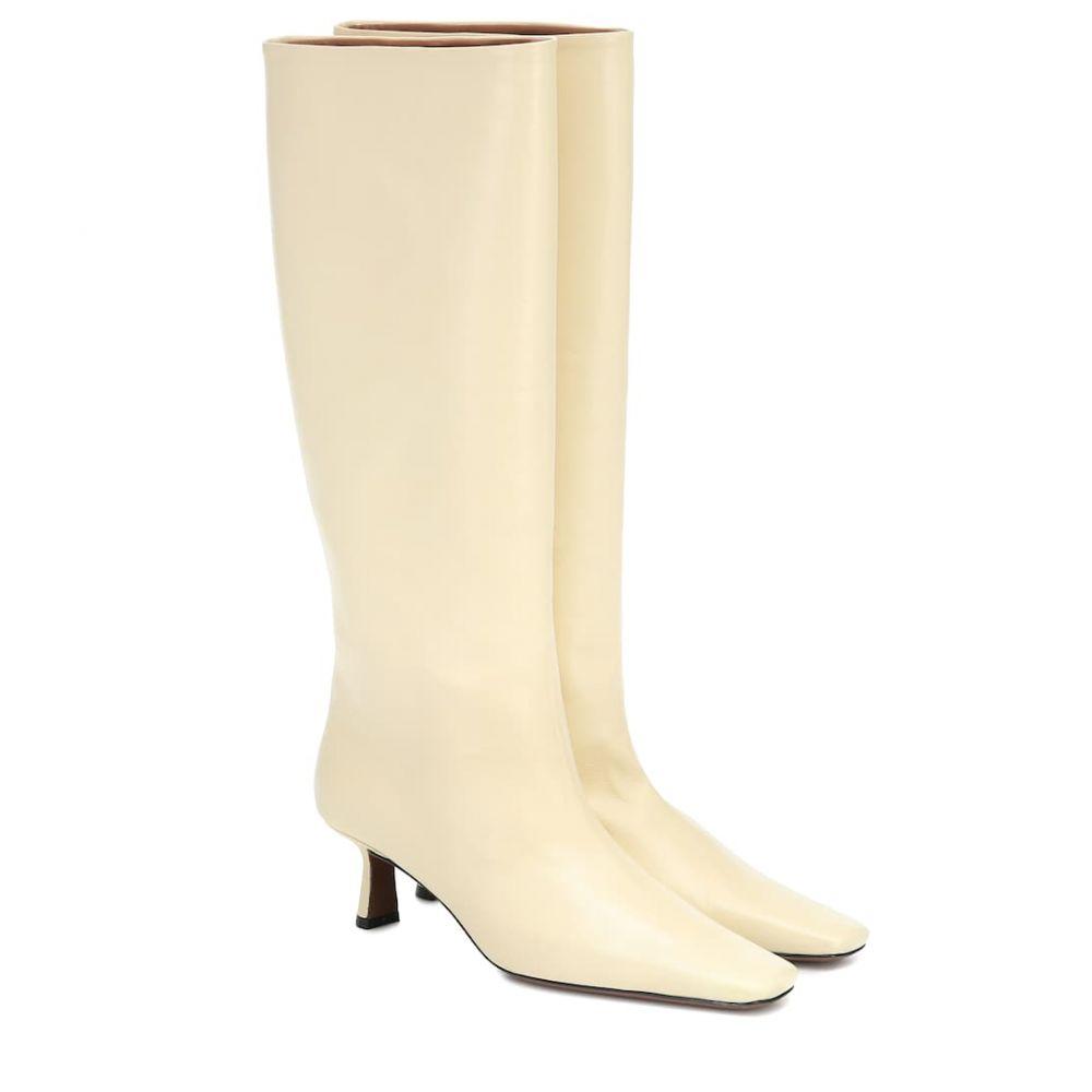 ネオアス Neous レディース ブーツ シューズ・靴【Slouchy knee-high leather boots】Banana