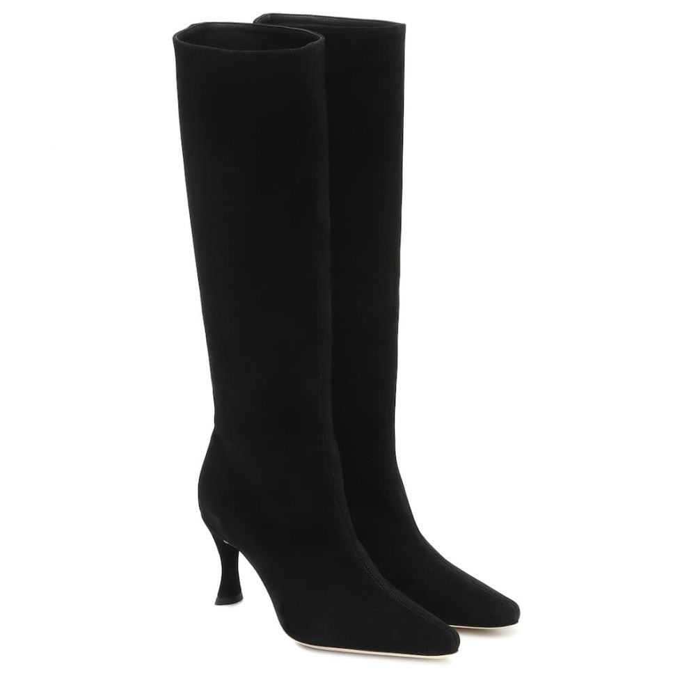 バイ ファー By Far レディース ブーツ シューズ・靴【Stevie 42 suede knee-high boots】Black