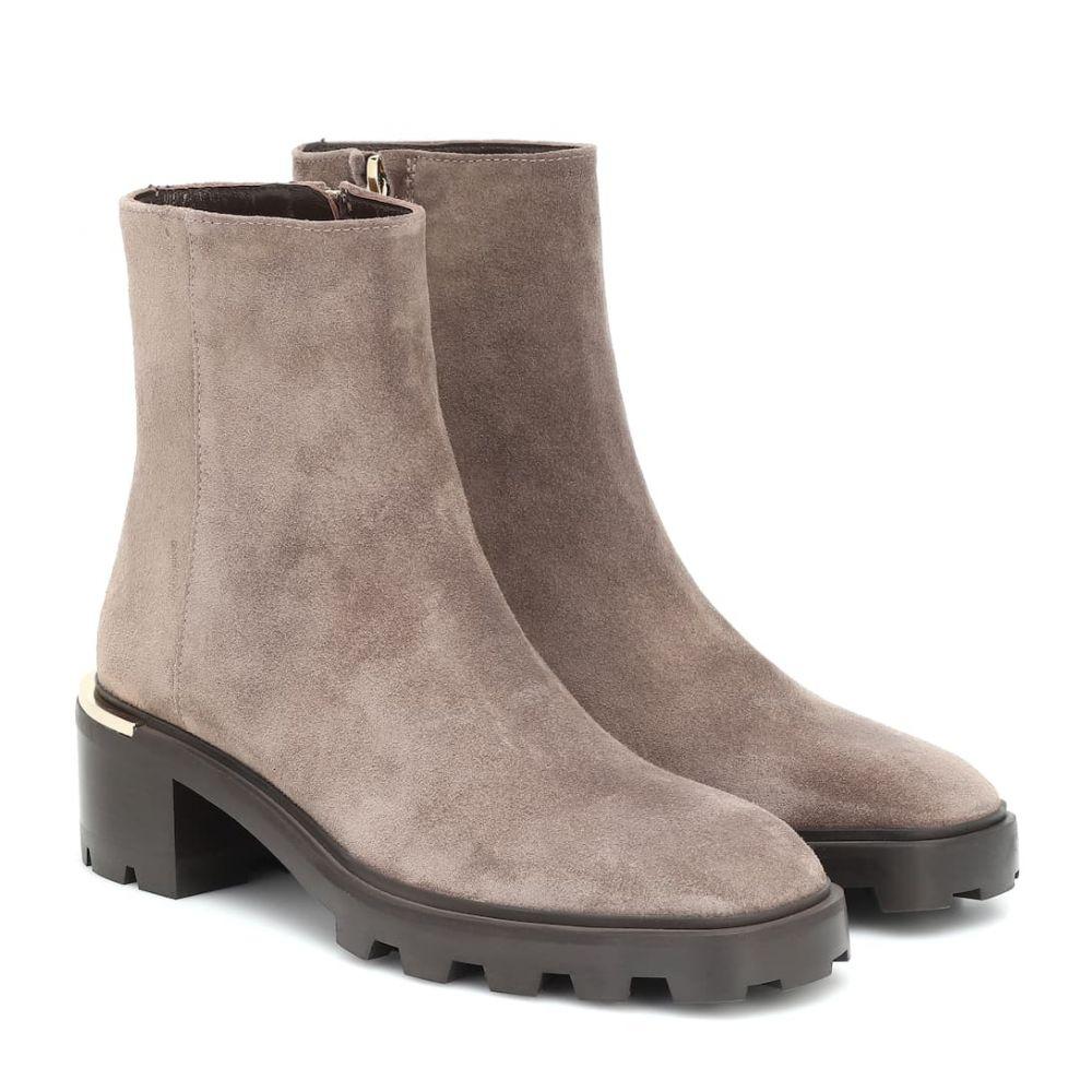 ジミー チュウ Jimmy Choo レディース ブーツ ショートブーツ シューズ・靴【Melodie 35 suede ankle boots】Mink