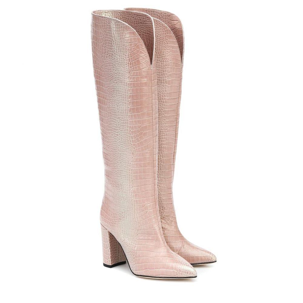 パリ テキサス Paris Texas レディース ブーツ シューズ・靴【Croc-effect leather boots】Nudo