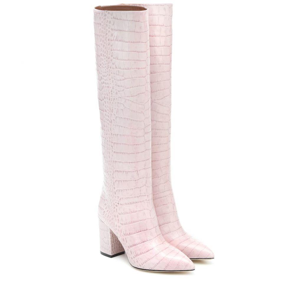 パリ テキサス Paris Texas レディース ブーツ シューズ・靴【Croc-effect leather knee-high boots】Lilla