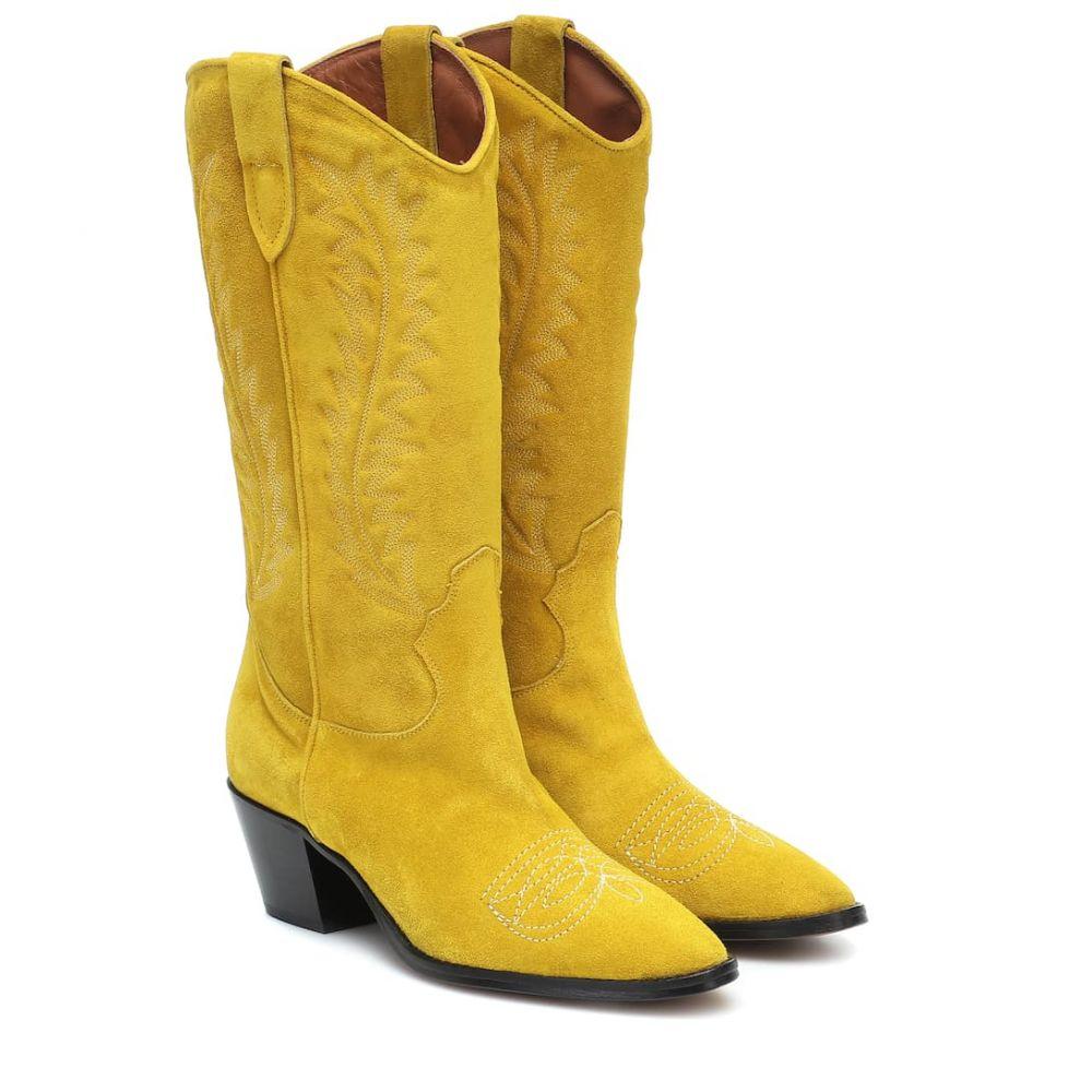 パリ テキサス Paris Texas レディース ブーツ カウボーイブーツ シューズ・靴【Suede knee-high cowboy boots】Giallo