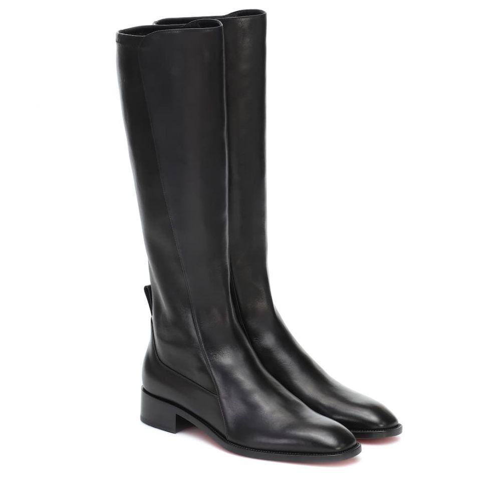 クリスチャン ルブタン Christian Louboutin レディース ブーツ シューズ・靴【Tagastretch leather knee-high boots】Black