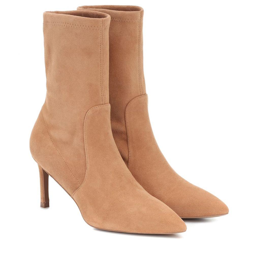 スチュアート ワイツマン Stuart Weitzman レディース ブーツ ショートブーツ シューズ・靴【Yvonne 75 suede ankle boots】Tan