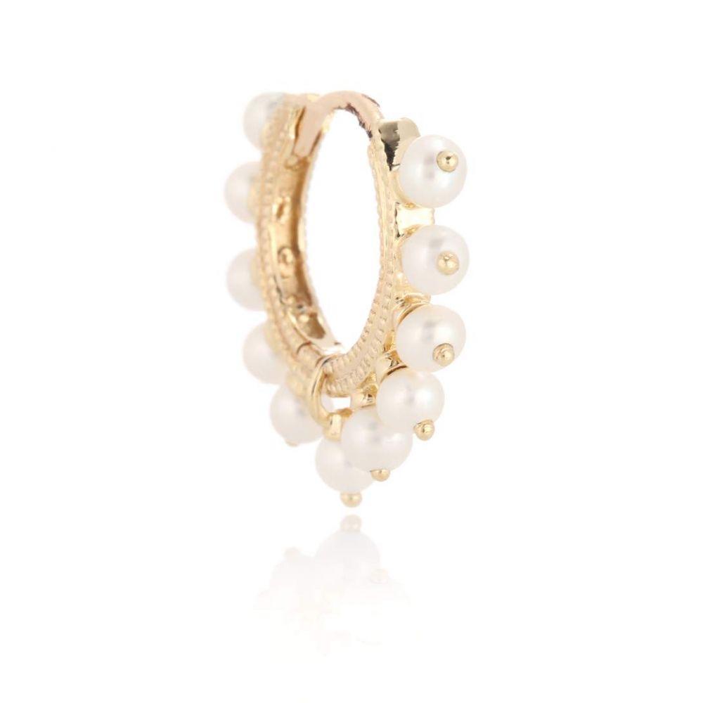 マリアタシュ Maria Tash レディース イヤリング・ピアス ジュエリー・アクセサリー【Eternity 14kt gold and pearl single earring】
