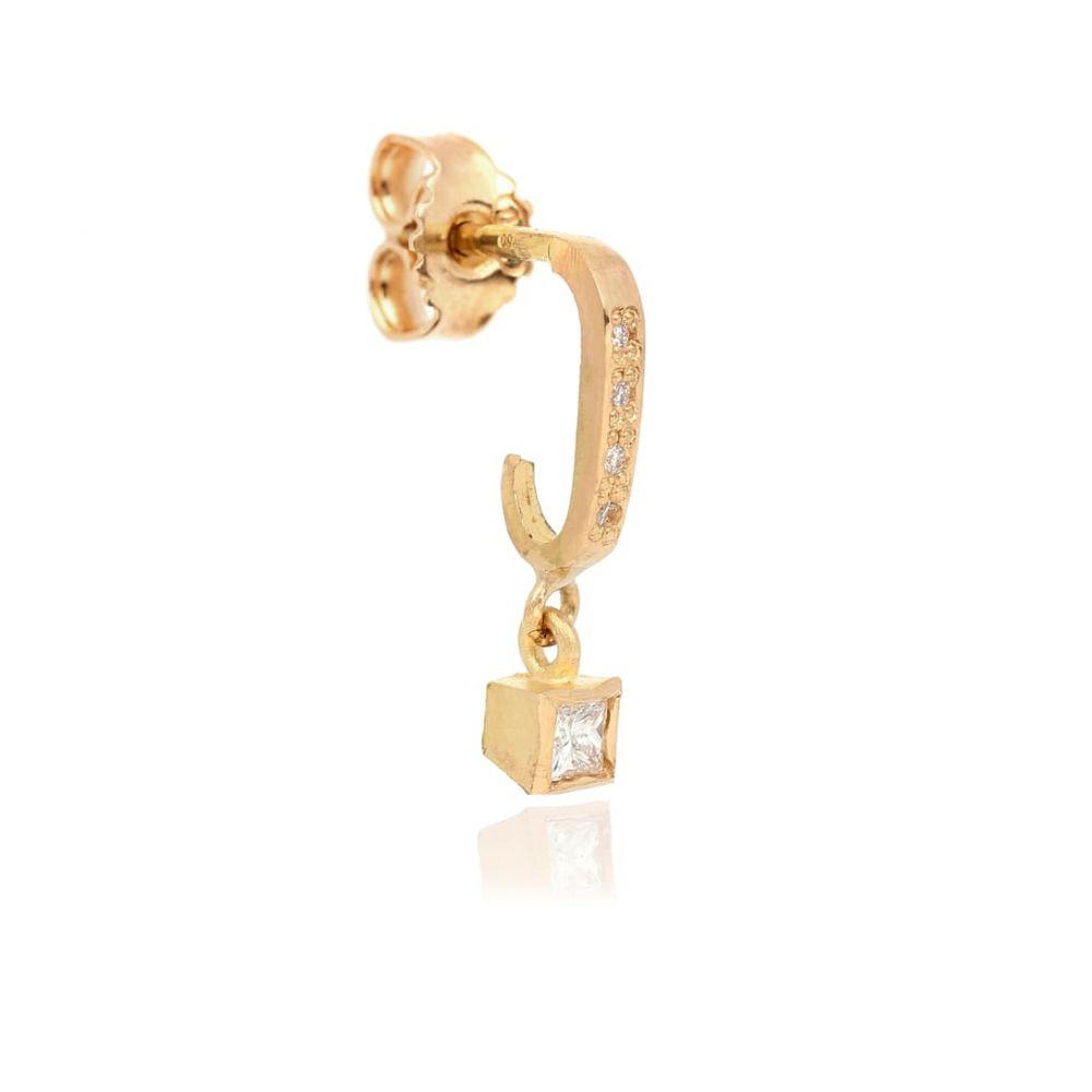 エルハナティ Elhanati レディース イヤリング・ピアス ジュエリー・アクセサリー【Roxy Classic Punk 18kt gold single earring with diamonds】