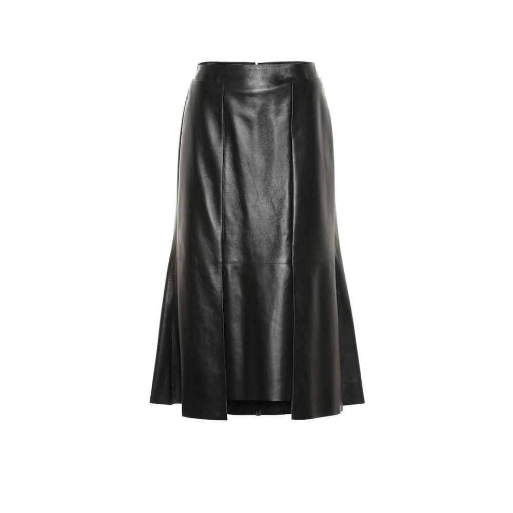 アレキサンダー マックイーン Alexander McQueen レディース ひざ丈スカート スカート【Leather midi skirt】Black