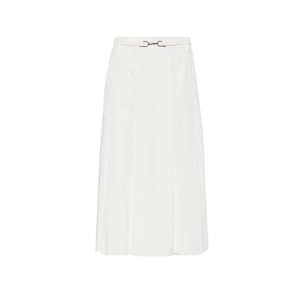 ガブリエラ ハースト Gabriela Hearst レディース ひざ丈スカート スカート【Herbert belted cotton midi skirt】Natural White
