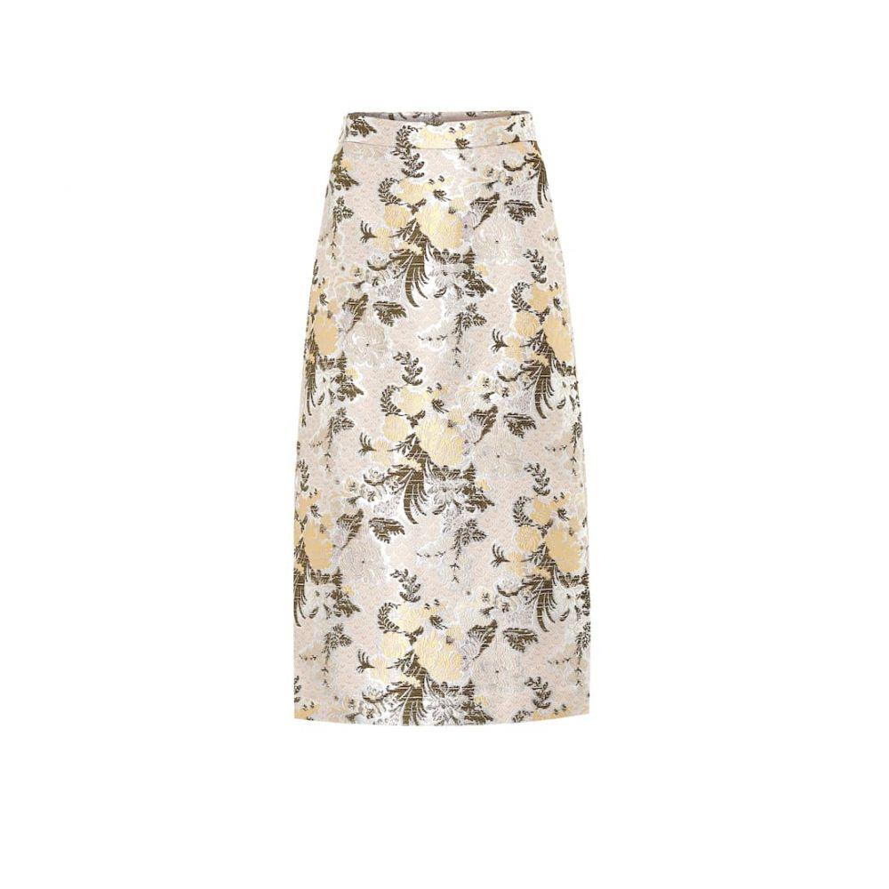 ブロック コレクション Brock Collection レディース ひざ丈スカート スカート【Floral brocade midi skirt】Light Beige