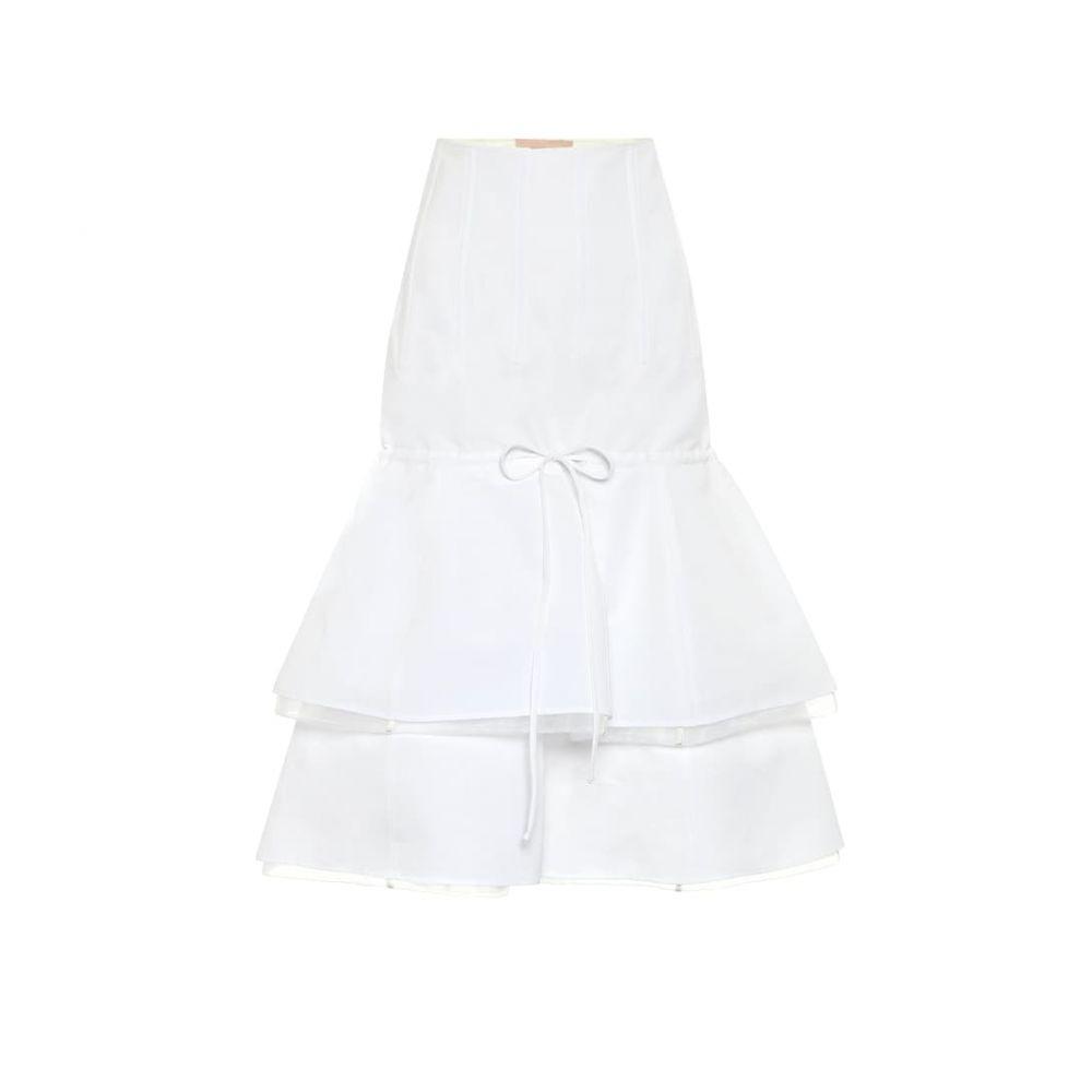 ブロック コレクション Brock Collection レディース ひざ丈スカート スカート【Cotton and linen midi skirt】Natural
