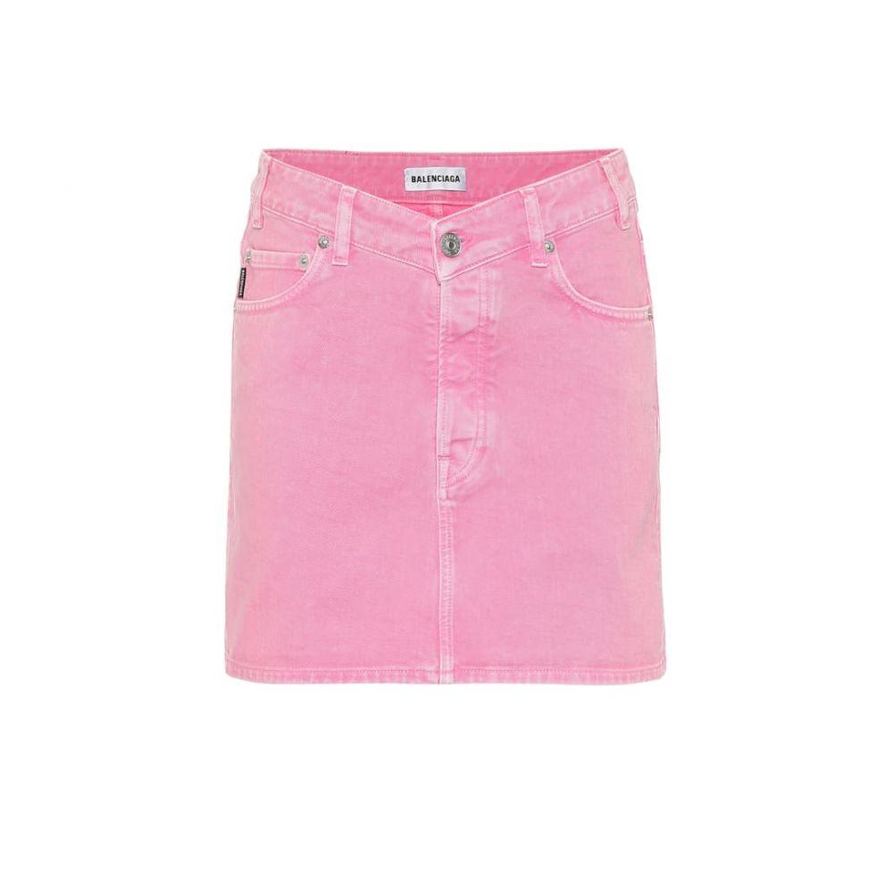 バレンシアガ Balenciaga レディース ミニスカート スカート【Denim miniskirt】Vintage Pink