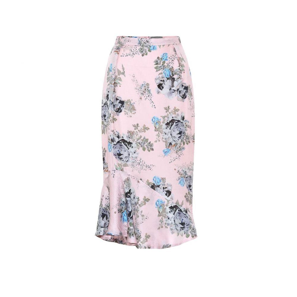プリーン バイ ソーントン ブルガッジ Preen by Thornton Bregazzi レディース ひざ丈スカート スカート【Eleau floral silk-blend midi skirt】Pink Blossom