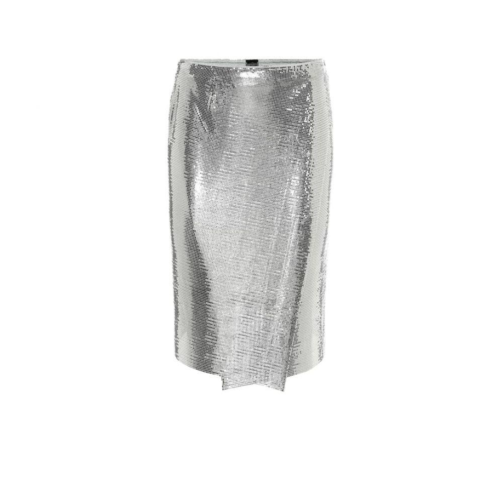 パコラバンヌ Paco Rabanne レディース ミニスカート スカート【Mesh skirt】Silver
