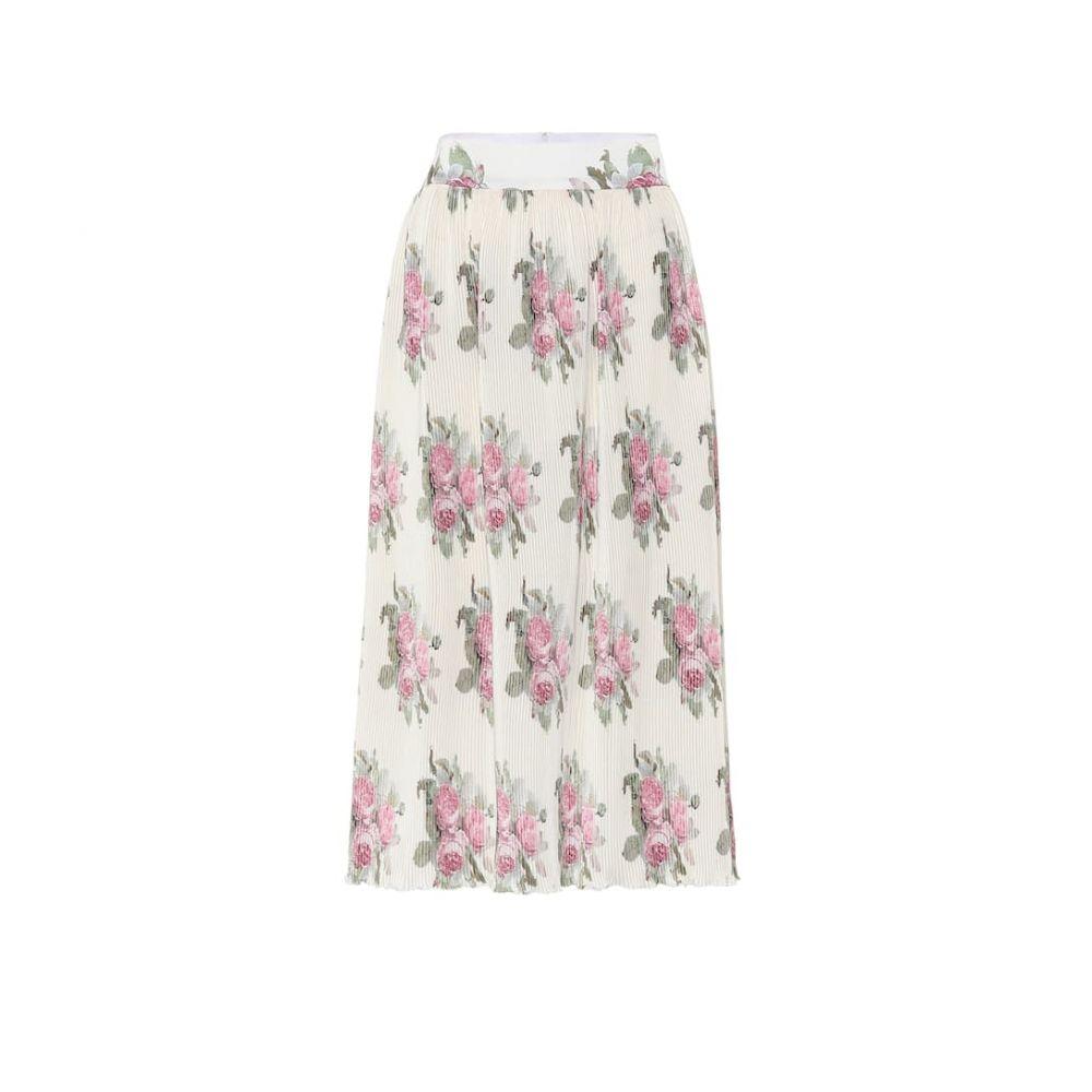 パコラバンヌ Paco Rabanne レディース ひざ丈スカート スカート【Floral midi skirt】Light Beige Bouquet