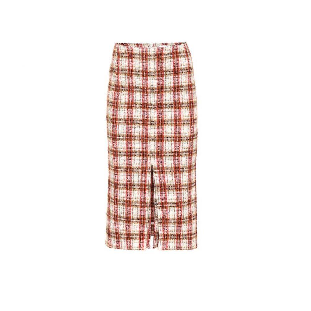 ヴィクトリア ベッカム Victoria Beckham レディース ひざ丈スカート スカート【Tweed midi skirt】Red/Cream