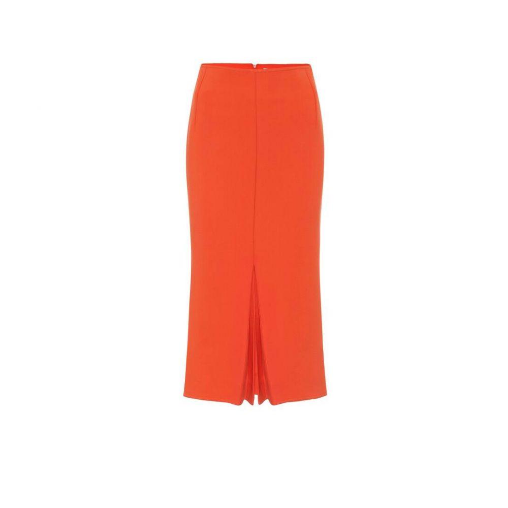 ヴィクトリア ベッカム Victoria Beckham レディース ひざ丈スカート スカート【Crepe midi skirt】Orange