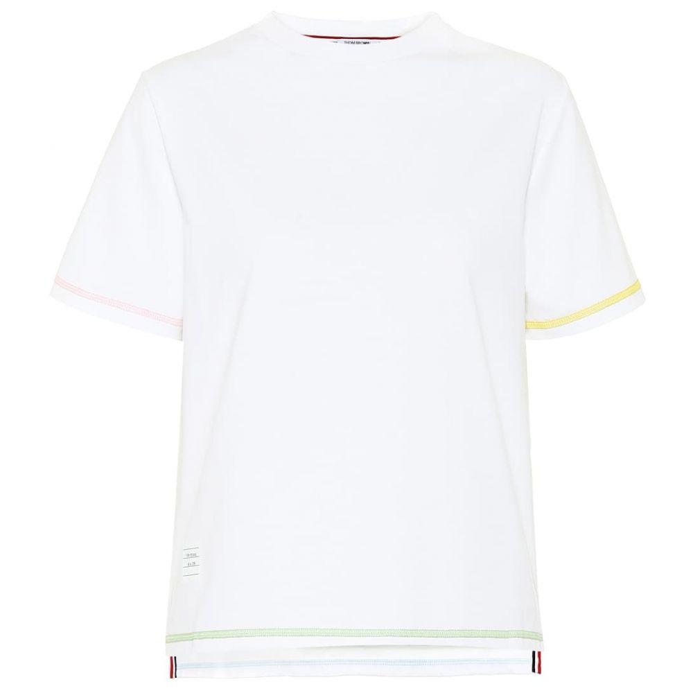 トム ブラウン Thom Browne レディース Tシャツ トップス【Cotton T-shirt】White