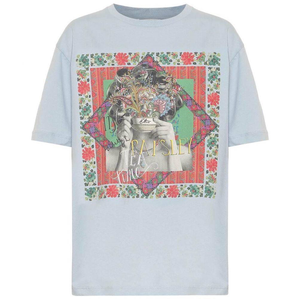 エトロ Etro レディース Tシャツ トップス【Printed cotton T-shirt】