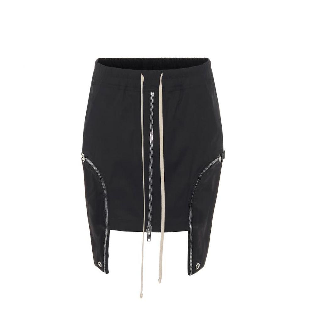 リック オウエンス Rick Owens レディース ミニスカート スカート【Asymmetric stretch-cotton miniskirt】
