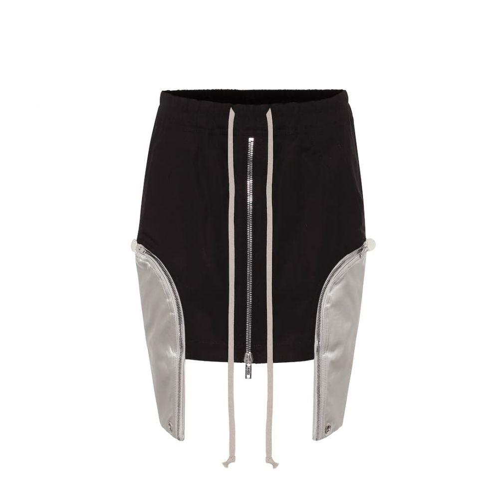リック オウエンス Rick Owens レディース ミニスカート スカート【Stretch-cotton asymmetric miniskirt】