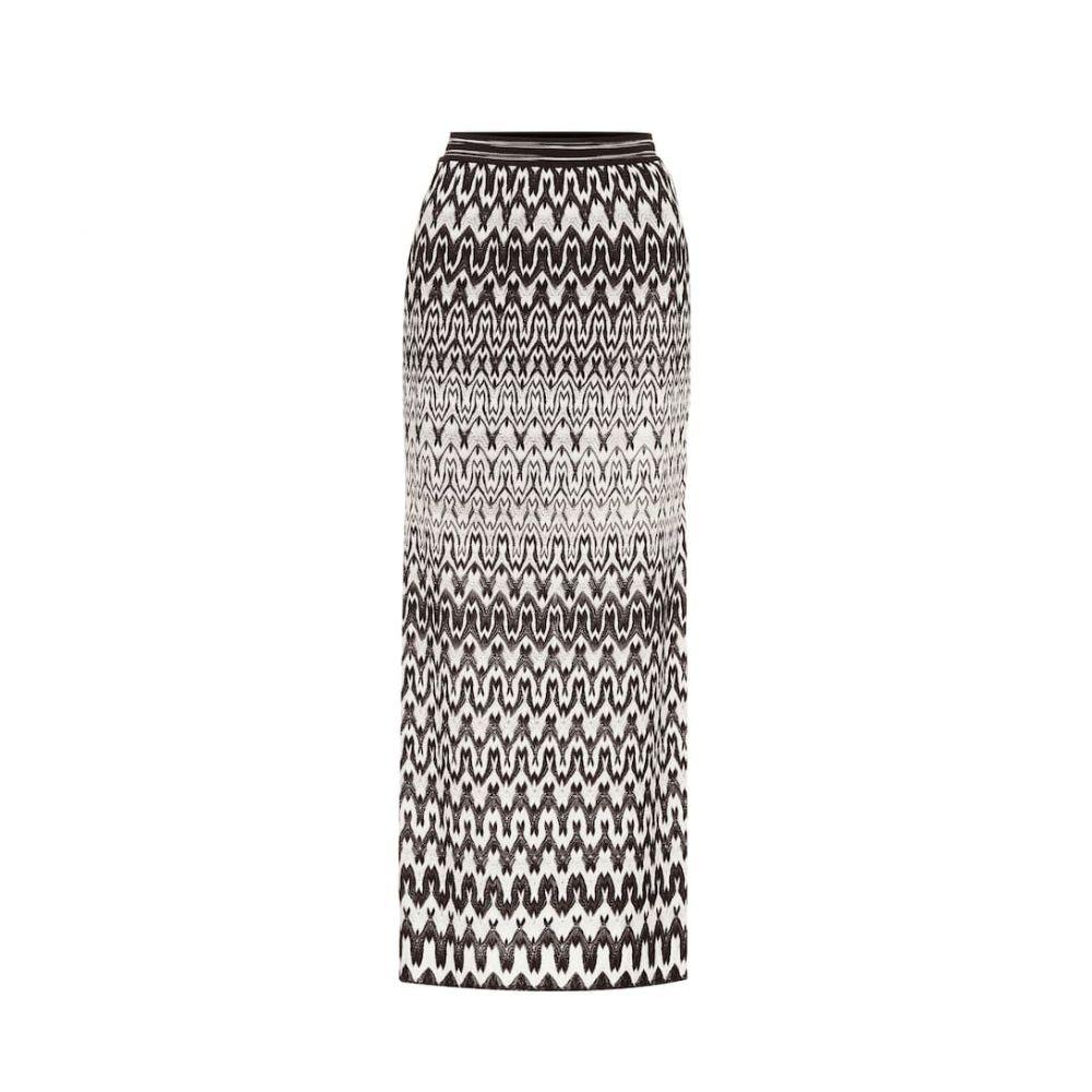 ミッソーニ Missoni レディース ひざ丈スカート スカート【Striped stretch-knit midi skirt】