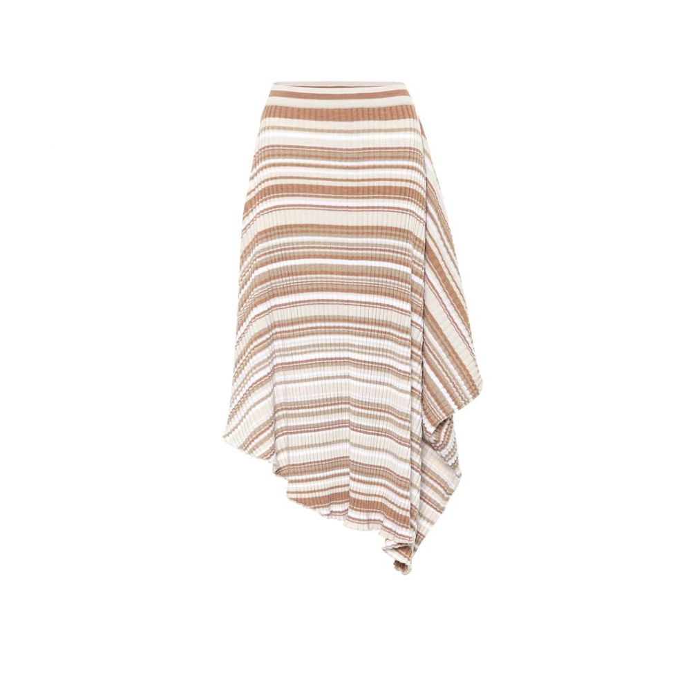 J.W.アンダーソン JW Anderson レディース ひざ丈スカート スカート【Striped wool skirt】Biscuit