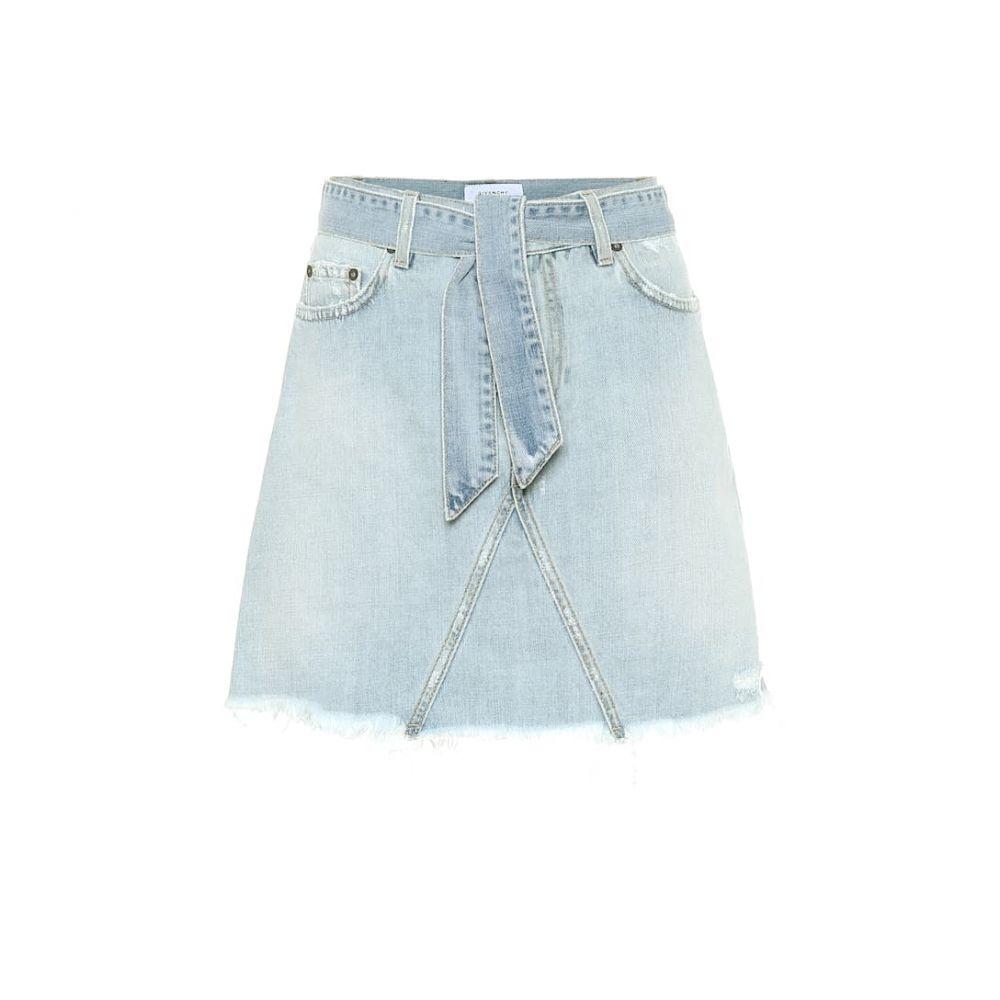 ジバンシー Givenchy レディース ミニスカート スカート【Belted denim miniskirt】Light Blue
