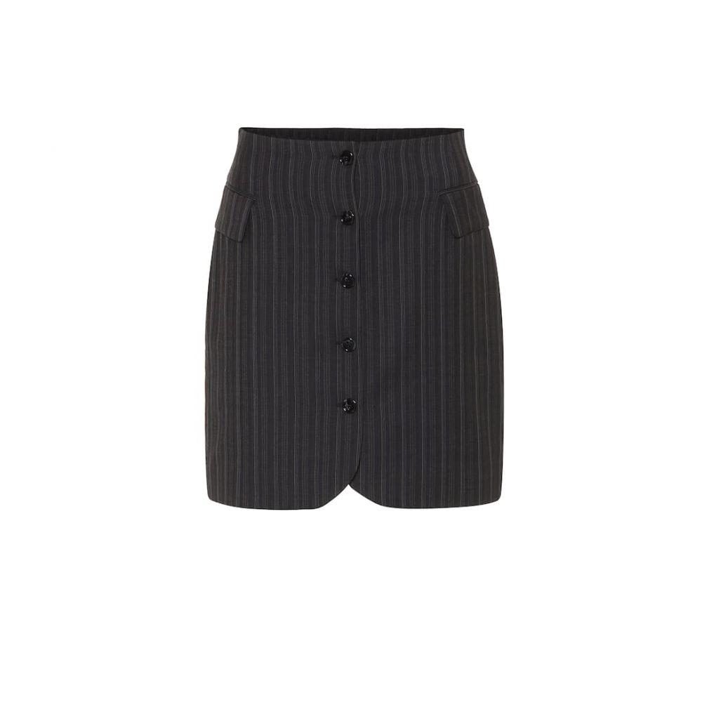アクネ ストゥディオズ Acne Studios レディース ミニスカート スカート【Striped high-rise wool skirt】Navy Blue