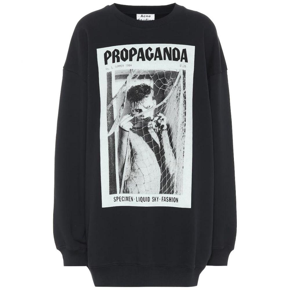 アクネ ストゥディオズ Acne Studios レディース スウェット・トレーナー トップス【Printed cotton sweatshirt】Faded Black