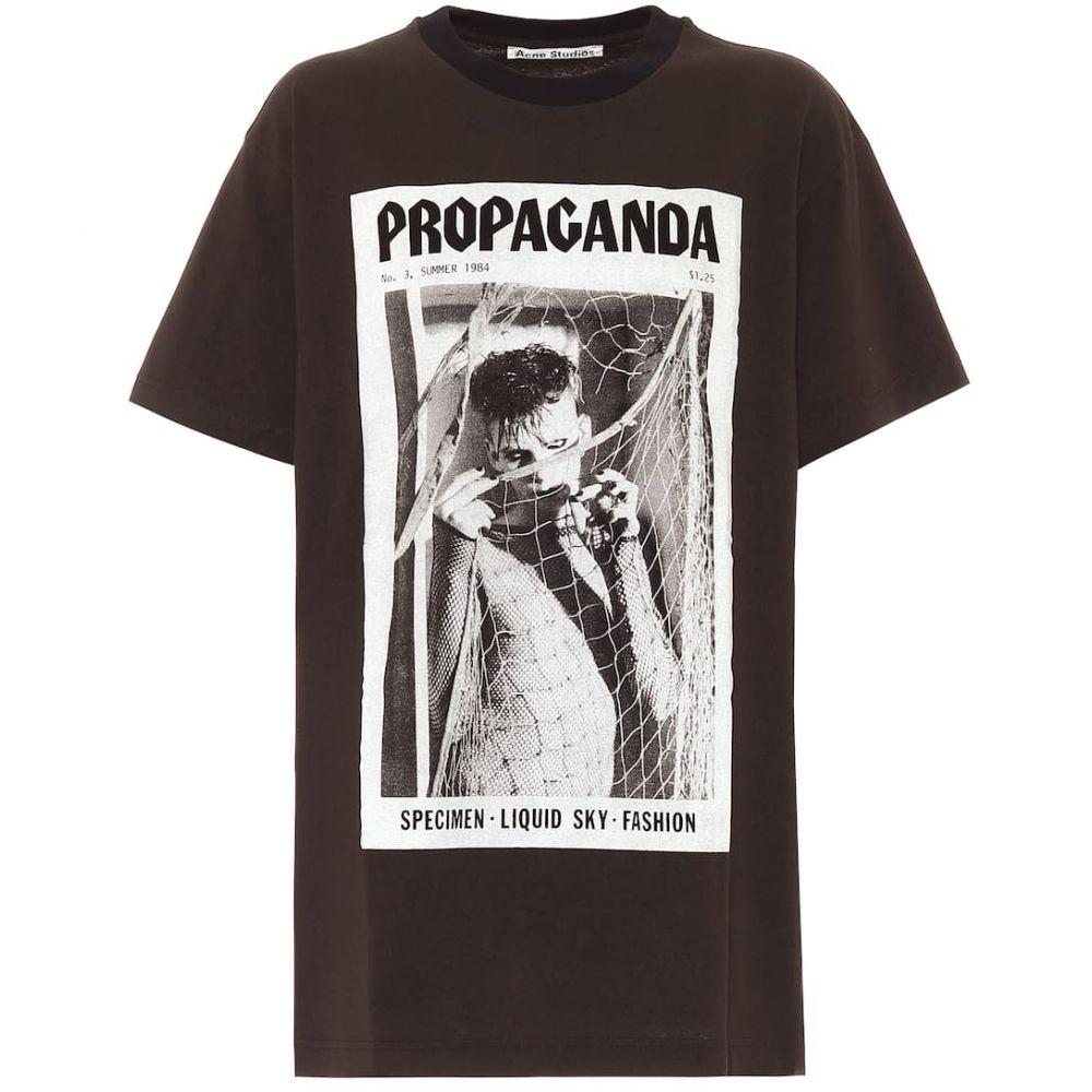 アクネ ストゥディオズ Acne Studios レディース Tシャツ トップス【Printed cotton T-shirt】Faded Black