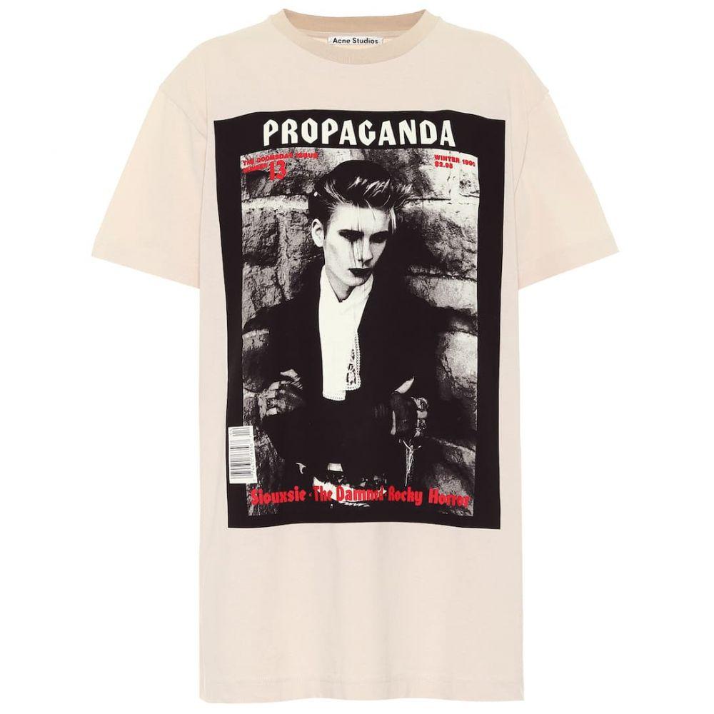 アクネ ストゥディオズ Acne Studios レディース Tシャツ トップス【Cotton T-shirt】Cold Beige