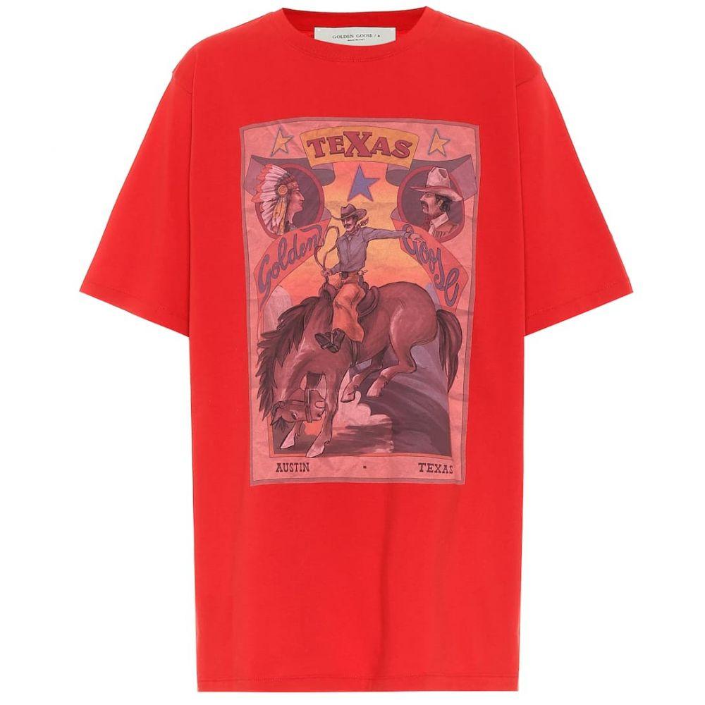 ゴールデン グース Golden Goose レディース Tシャツ トップス【Cotton T-shirt】Goji Berry/Rodeo