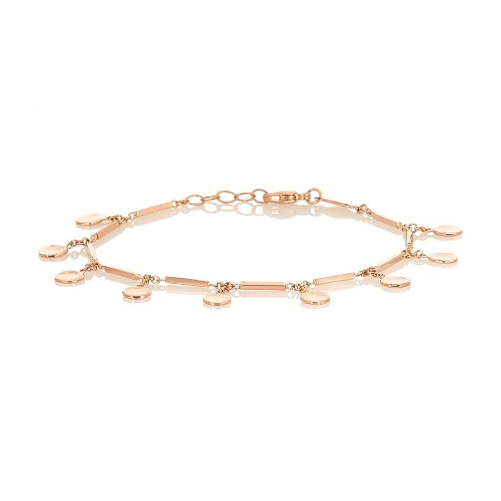 ジャッキーアイチェ Jacquie Aiche レディース ブレスレット ジュエリー・アクセサリー【14kt rose-gold disc and bar bracelet】