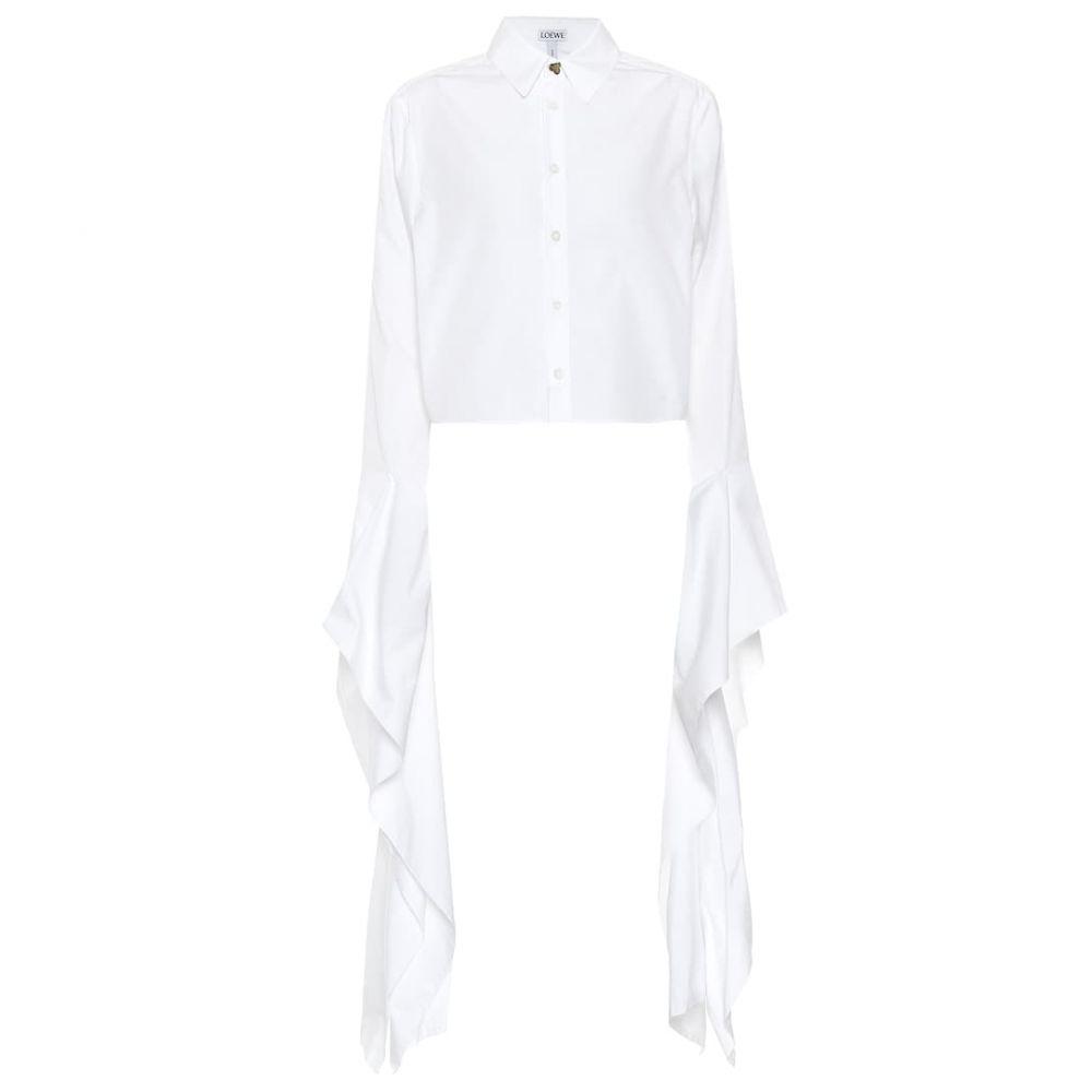 ロエベ Loewe レディース トップス 【Cotton poplin top】White