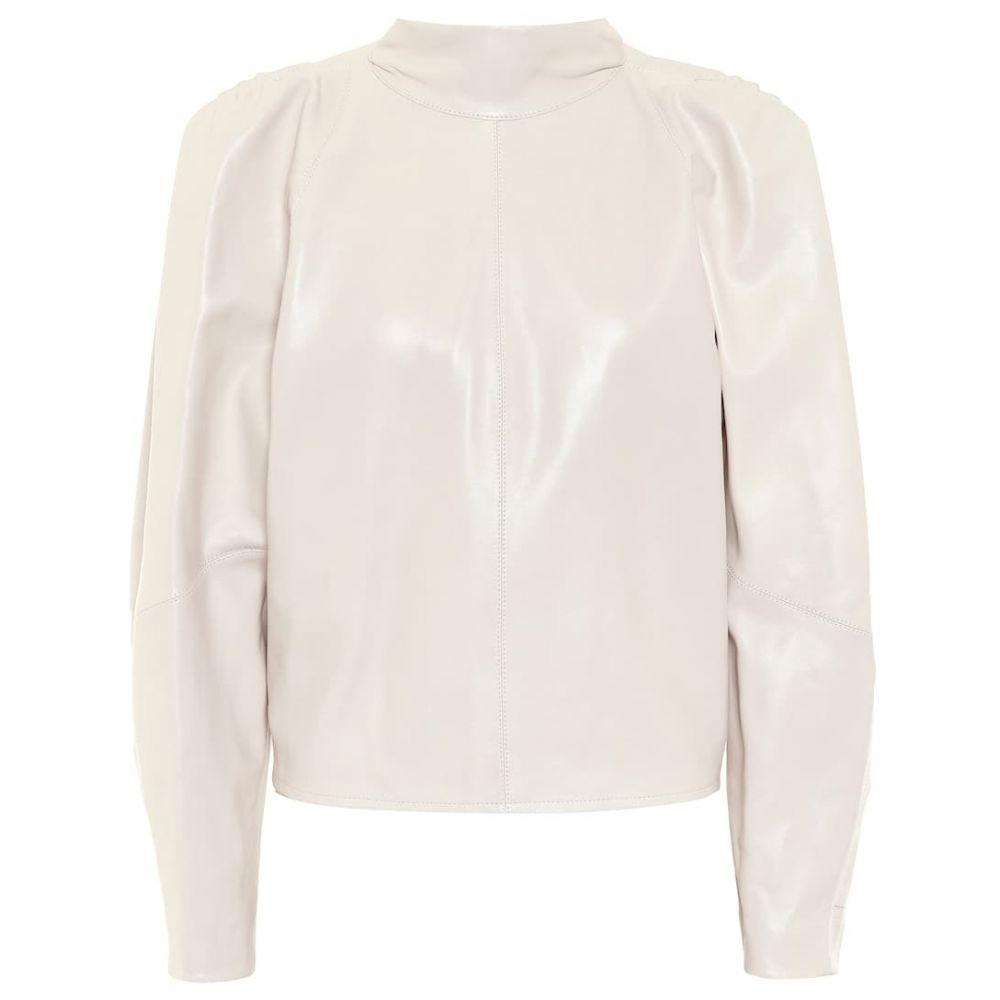 イザベル マラン Isabel Marant レディース ブラウス・シャツ トップス【Caby leather blouse】Chalk