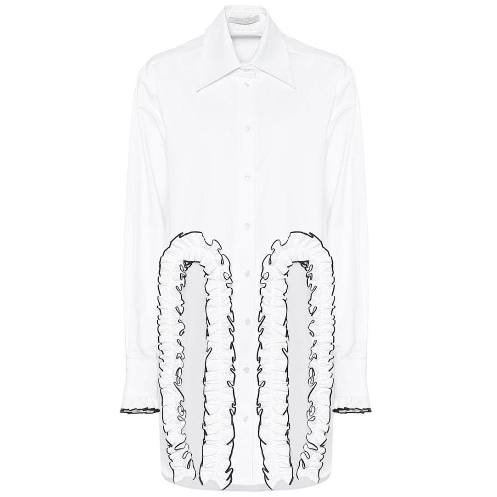 クリストファー ケイン Christopher Kane レディース ブラウス・シャツ トップス【Frilled cotton poplin shirt】White