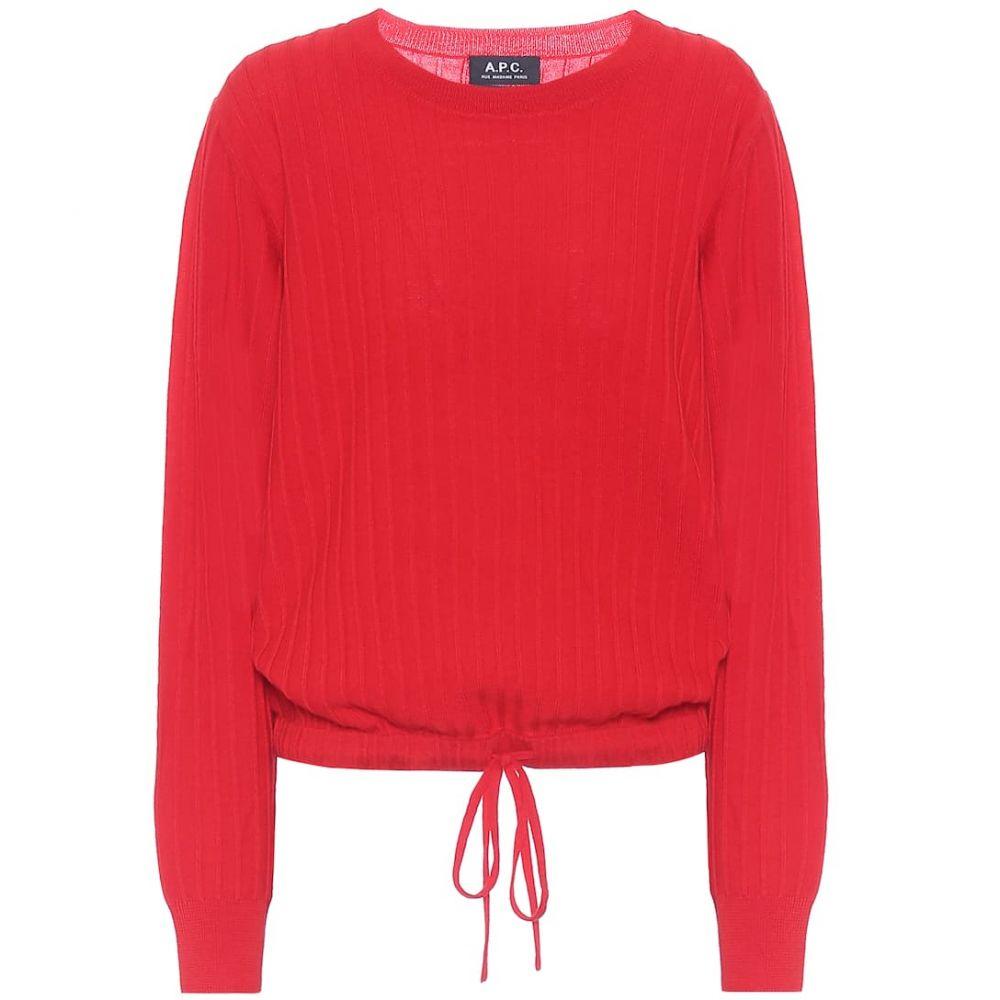 アーペーセー A.P.C. レディース ニット・セーター トップス【Taeko merino wool sweater】Rouge