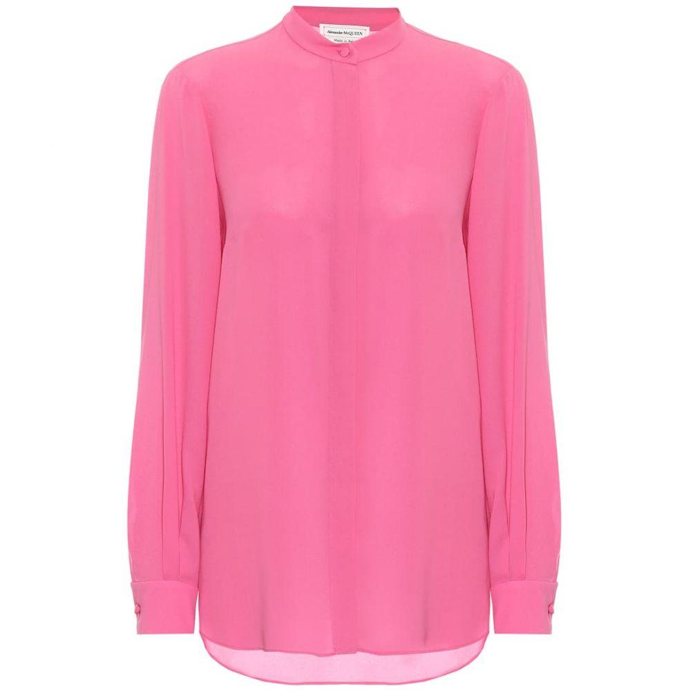 アレキサンダー マックイーン Alexander McQueen レディース ブラウス・シャツ トップス【Silk blouse】Hibiscus