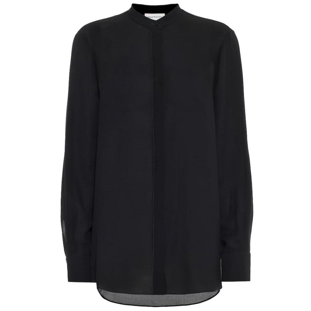 アレキサンダー マックイーン Alexander McQueen レディース ブラウス・シャツ トップス【Silk blouse】Black