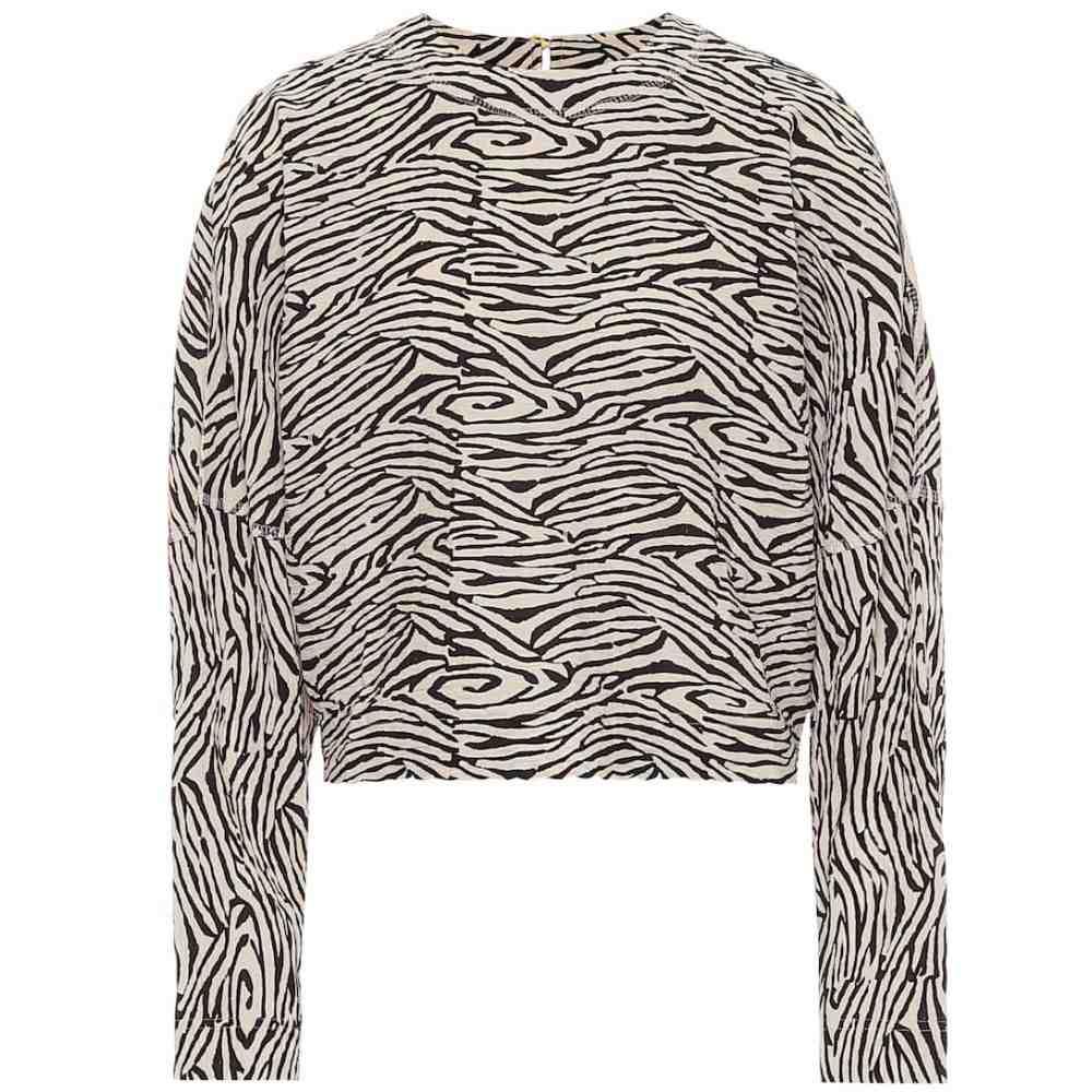 ナヌシュカ Nanushka レディース トップス 【Louise cropped zebra-print sweater】Zebra Block Print