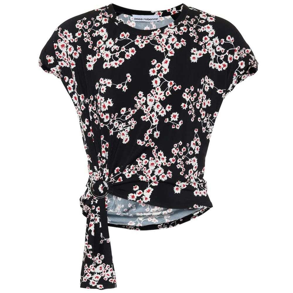 パコラバンヌ Paco Rabanne レディース トップス 【Floral top】Black Sakura