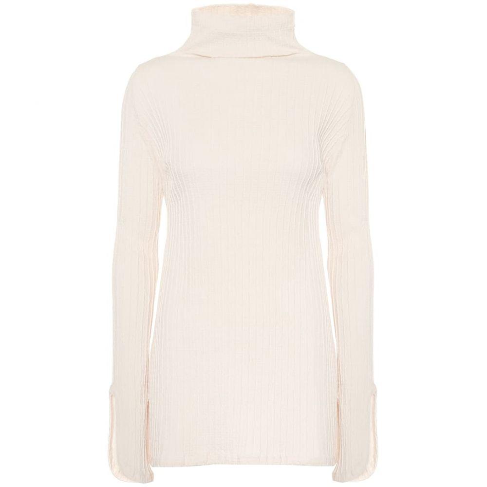 ジル サンダー Jil Sander レディース ニット・セーター トップス【High-neck stretch-cotton top】Natural