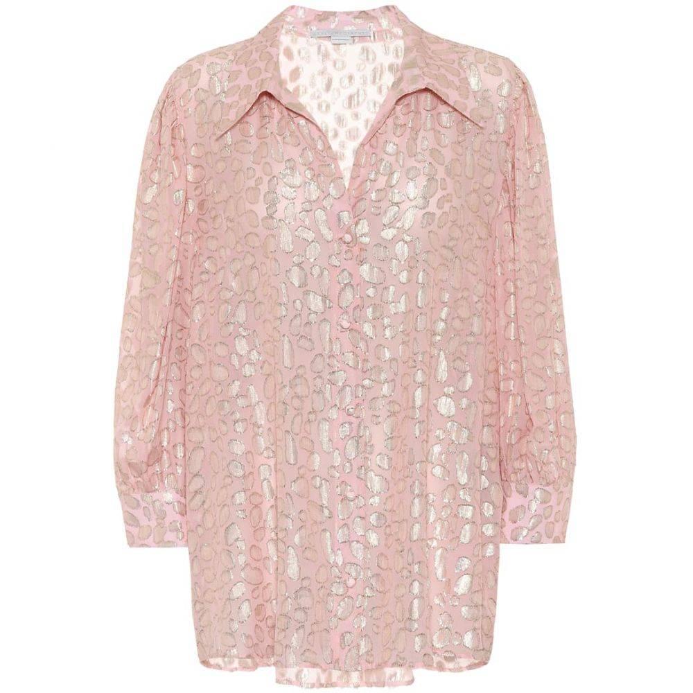 ステラ マッカートニー Stella McCartney レディース ブラウス・シャツ トップス【Silk-blend leopard-fil coupe blouse】Ballet Pin
