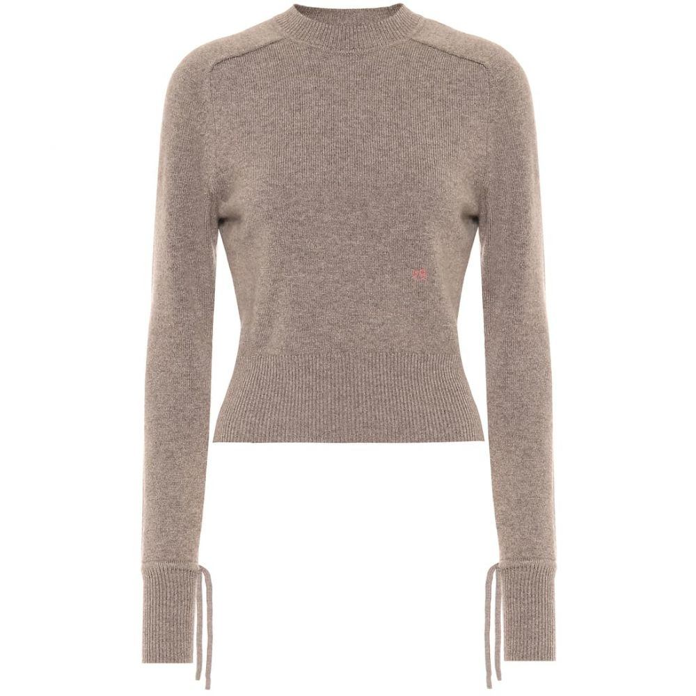ヴィクトリア ベッカム Victoria Beckham レディース ニット・セーター トップス【Stretch-cashmere sweater】Stone Melange