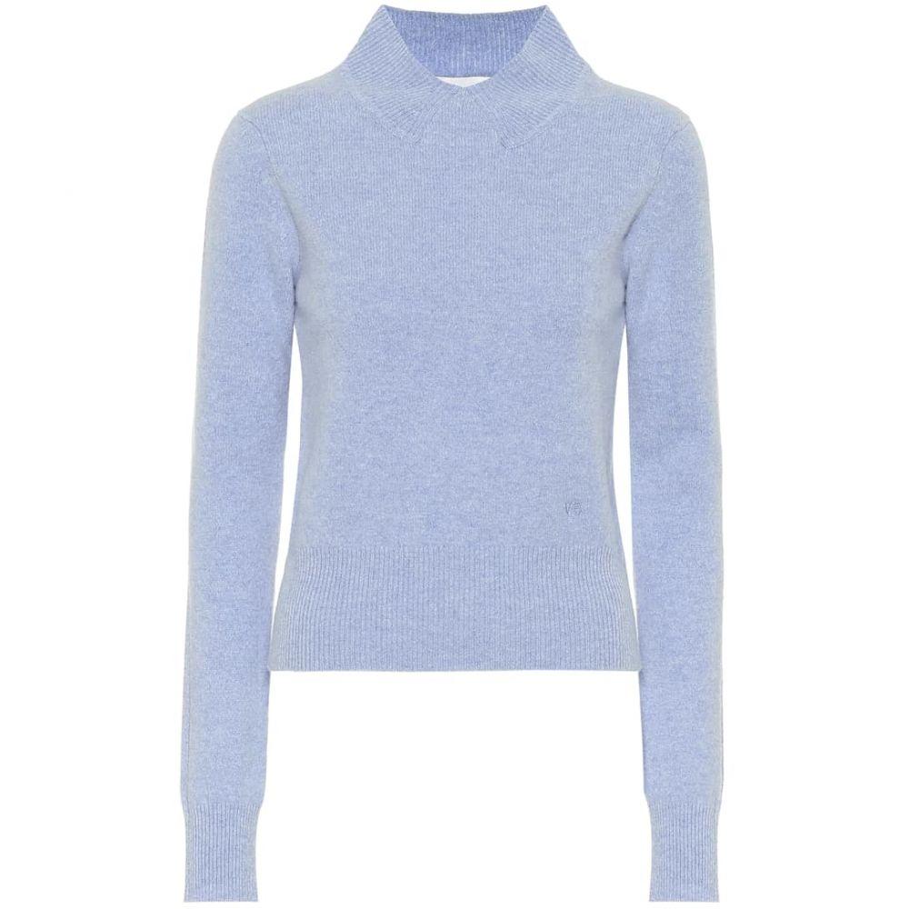 ヴィクトリア ベッカム Victoria Beckham レディース ニット・セーター トップス【Cropped wool turtleneck sweater】Light Blue Melange