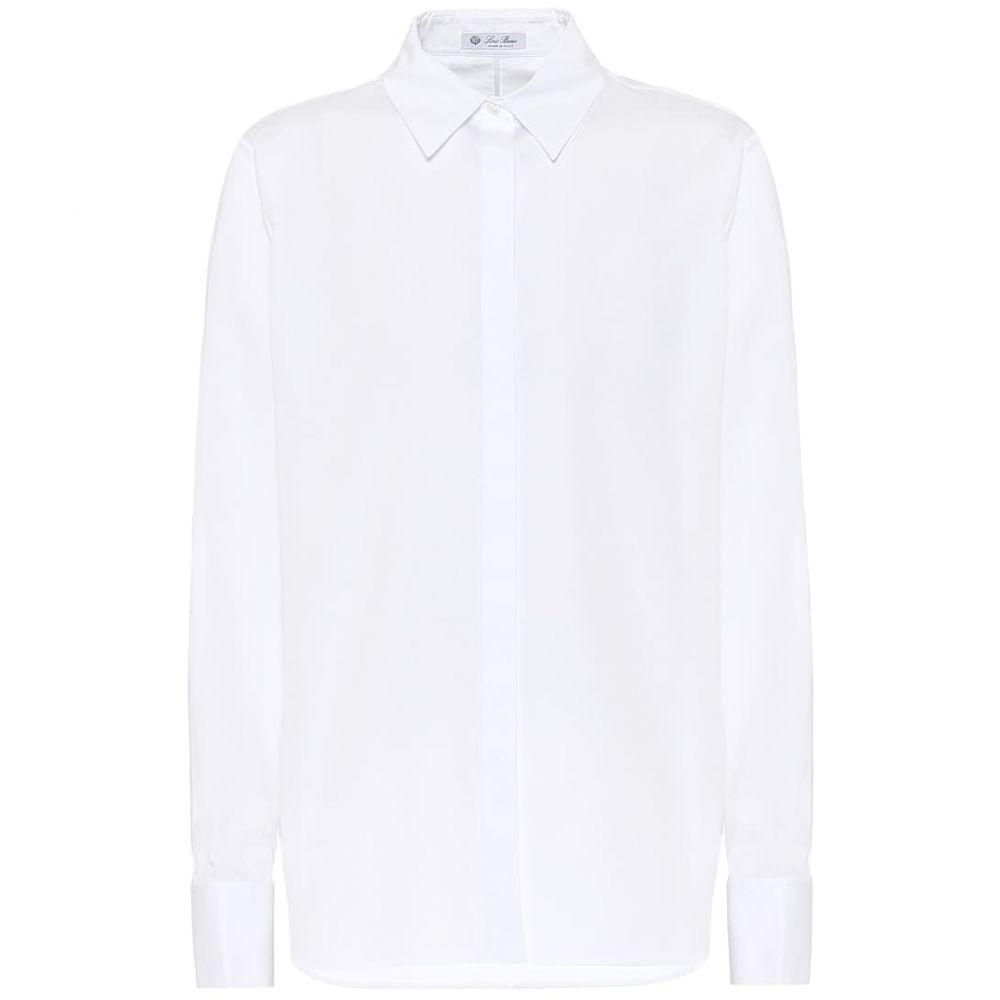 ロロピアーナ Loro Piana レディース ブラウス・シャツ トップス【Cotton-poplin shirt】