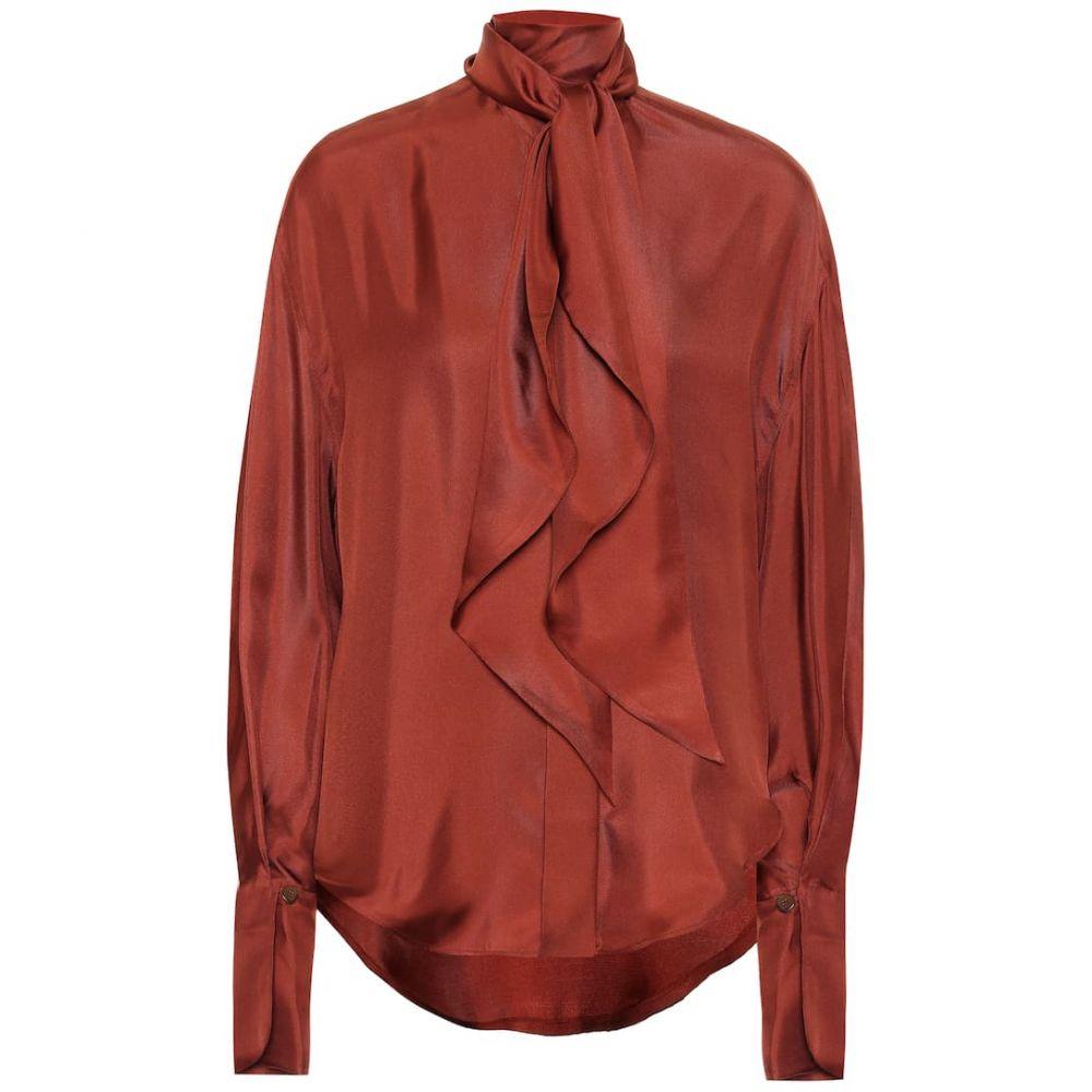 ペーター ペトロフ Petar Petrov レディース ブラウス・シャツ トップス【Connor silk blouse】Brick