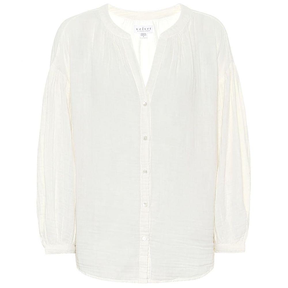 ベルベット グラハム&スペンサー Velvet レディース ブラウス・シャツ トップス【Monique cotton blouse】Ecru