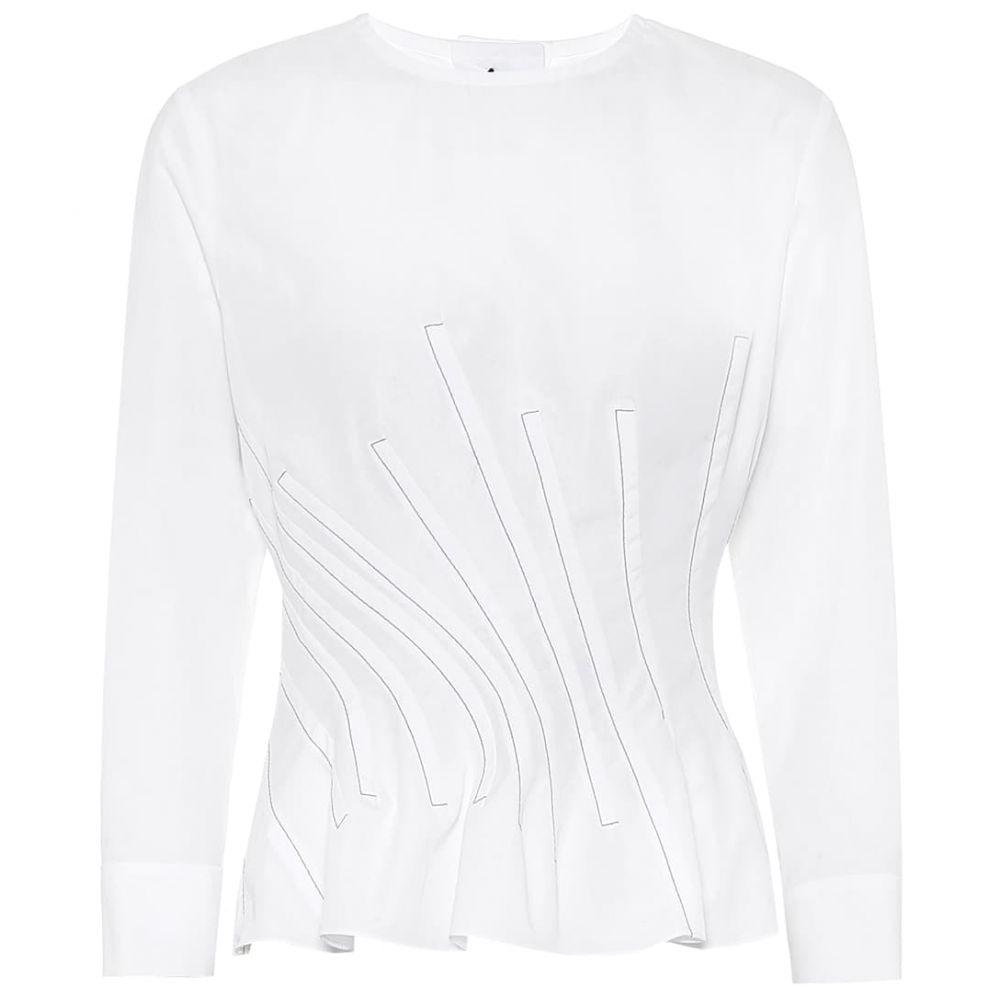 マルニ Marni レディース ブラウス・シャツ トップス【Cotton shirt】Lily White