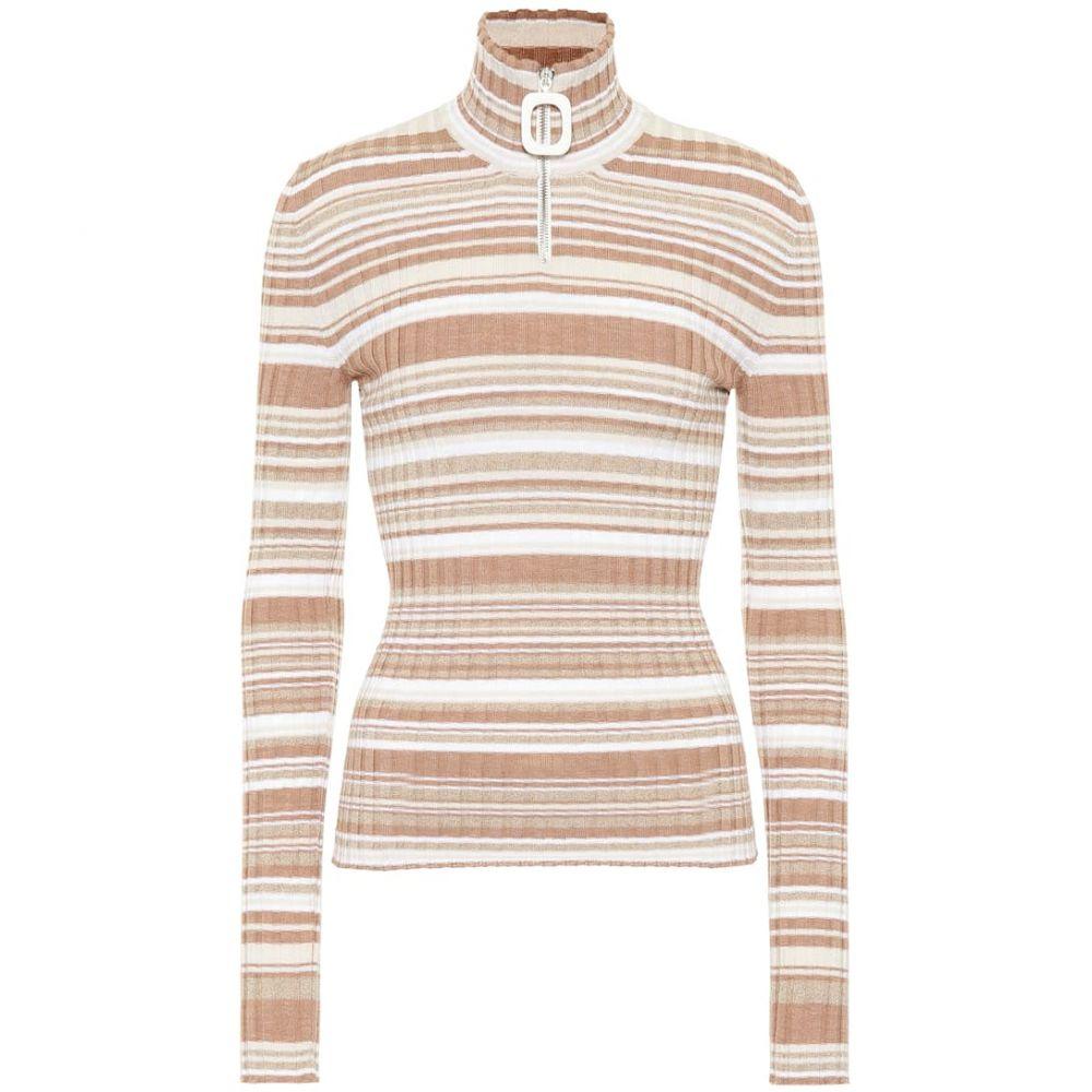 J.W.アンダーソン JW Anderson レディース ニット・セーター トップス【Striped wool sweater】Biscuit
